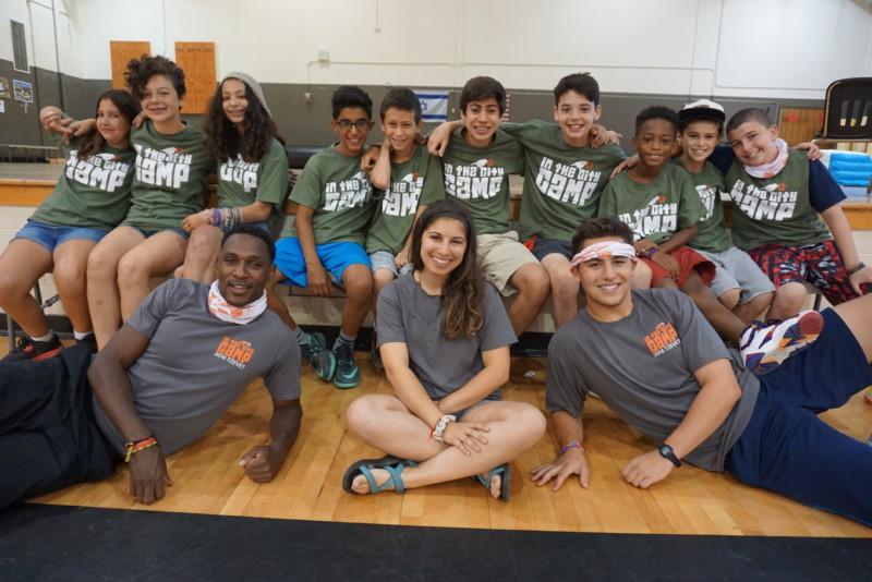 Tween campers and staff